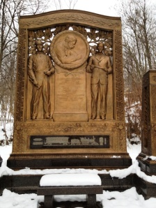 The centerpiece of the Westinghouse Memorial in Schenley Park