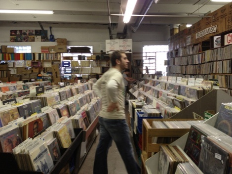 So many records...so little time...Derek didn't know which way to go.  He was moving around so fast he was a blur.