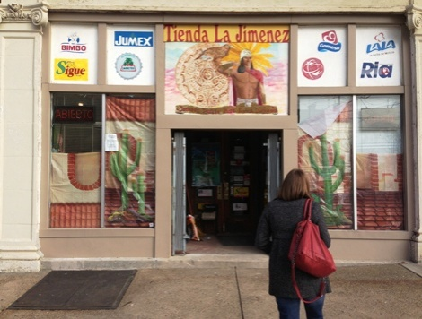 One of Beechview's two Mexican grocery stores, Tienda La Jimenez