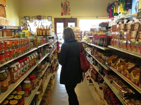 Checking out the local Mexican grocery store