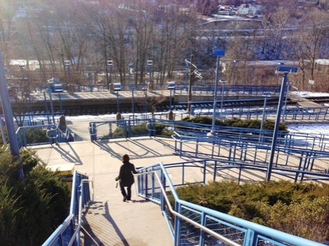 Bon Air Station - we took the stairs down the hillside but it's equipped with switchback ramps
