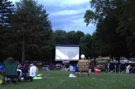 Watching Jack Reacher on Observatory Hill in Riverview Park!