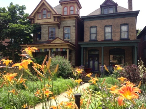 A couple of gorgeous homes and gardens at S. Graham and Penn Ave in the northwest corner of Friendship