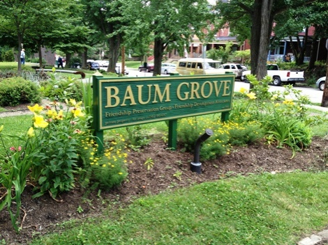 Baum Grove, tucked in the middle of Friendship's neighborly borders
