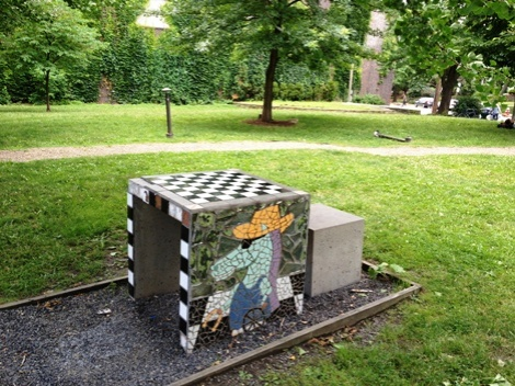 Pittsburgh's prettiest chess board?