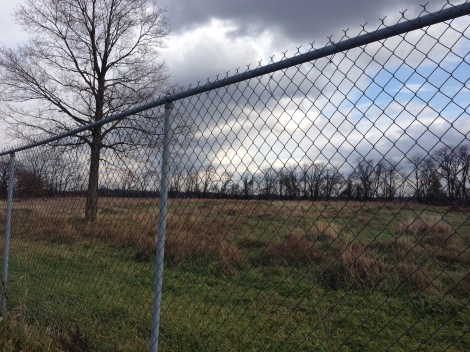 Inaccessible fenced-off land in Arlington Heights